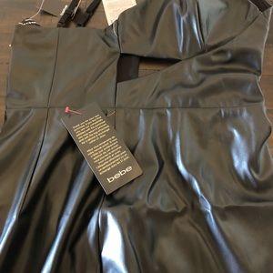 Apple midi dress, leather
